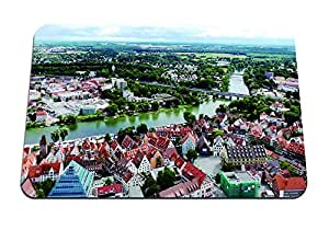"""Danube River in Ulm, Germany - Gaming Mouse Pad - Mouse Pad - 10.24""""x8.27"""" inches"""