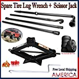 For 2006-2014 Ford F-150 Spare Tire Tool Kit and Scissor Lift Jack 2 Ton with Crank Speed Handle Tools Carrying Case Storage Bag