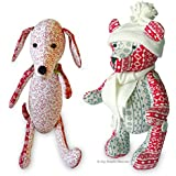 2 X Sewing PATTERNS Independent Design. 12 Inch Dachshund Dog & 13 Inch Christmas Teddy Bear with Easy Tutorial Style Instructions. Dainty Dachshund Dog & Jingle Bear. FREE POST by My Fabric Heaven