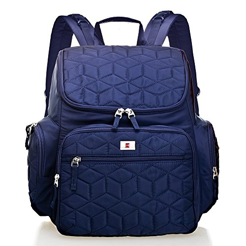 Large Capacity Diaper Bag Polyester Multi-Function Backpack Waterproof Travel Nappy Bag, Fashion Mummy Bag