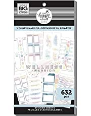 The Happy Planner Sticker Value Pack - Scrapbooking Supplies - Wellness Warrior Theme - Multi-Color - Great for Projects, Scrapbooks & Albums - 30 Sheets, 632 Stickers Total