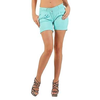 rivenditore all'ingrosso 91cf1 4a6a8 FRAUIT Bermuda Donna Cotone Shorts Ragazza Vita Alta ...