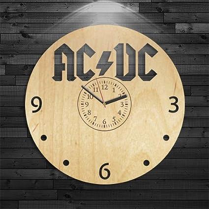 Amazon.com: Ac Dc Reloj de pared, regalo para mujer, reloj ...