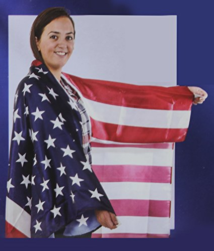 USA Stars N Stripes Patriotic American Body Cape Flag Costume - Play Kreative TM