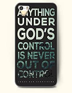 iPhone 4 / 4s Case Anything Under God'S Control Is Never Out Of Control Jesus Our Everything - - Hard Back Plastic Case - OOFIT Authentic