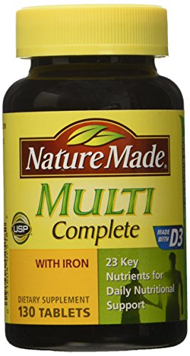 Nature Made Multi Complete with Iron 130 Tablets (Multivitamin Men Nature Made compare prices)