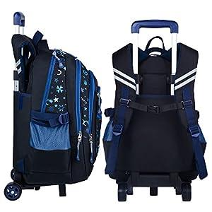 Rolling Backpack, Coofit Wheeled Backpack School Kids Rolling Backpack With Wheels (Coofit Originally Design Blue)