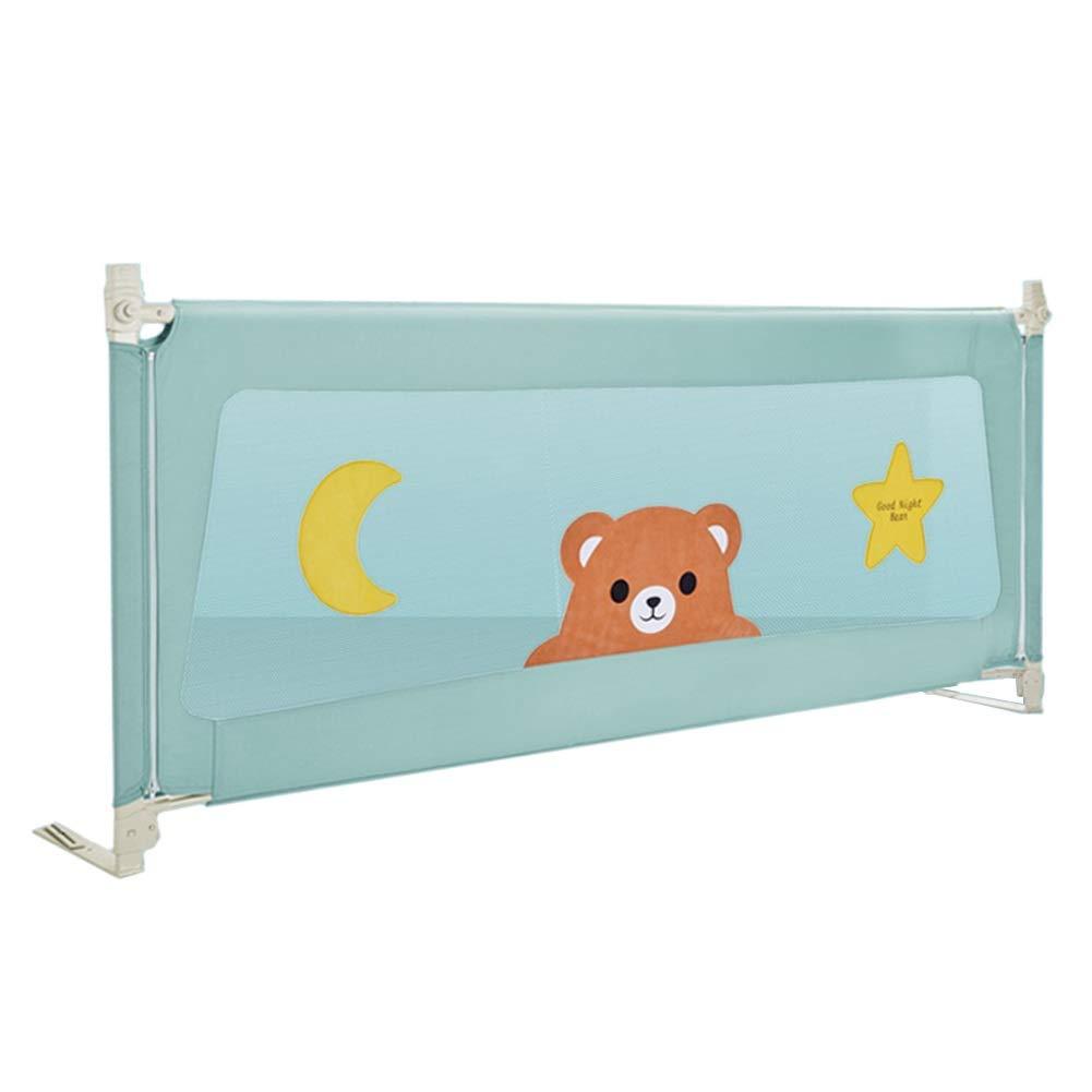 ベッドフェンス, グリーンベビーベッドレール、子供および幼児のための携帯用ベッドの監視安全ベッドの柵、クイーン&キングサイズベッド用 - 96cmエクストラハイ (サイズ さいず : 150cm) 150cm  B07PRXWZBY