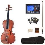 Cecilio CVA-400 Solid Wood Viola with Tuner, Case, Bow, Rosin, Bridge and Strings, Size 16.5-Inch