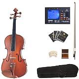 Cecilio CVA-400 Solid Wood Viola with Tuner, Case, Bow, Rosin, Bridge and Strings, Size 16-Inch