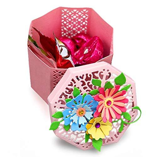 Gift Box Templates - Metal Cutting Dies Set Hollow Design Stencil Scrapbook Embossing Template DIY Scrapbooking Photo Album Paper Cards Decorative Crafts Making (Gift Box Stencil Set)