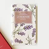 """'La Vie En Rose' Undated Schedule Planner 2016 Yearly Monthly Weekly Planners Academic Planner Organizer Agenda notebook, PVC Cover, 160 Pages, 3.94""""x6.69"""" (Lavender)"""