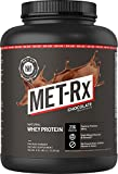 MET-Rx Natural Whey Protein Powder, Chocolate, 5 lb, Easy Mix Protein Powder, 23 g Protein, 5g BCAAs from Ultra Filtered Whey Protein, For Pre/Post Workout, Gluten Free