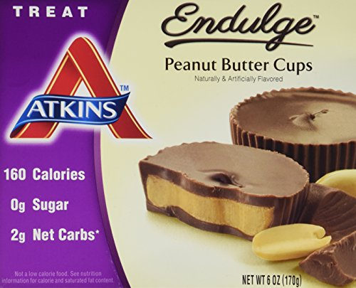 Atkins Endulge Treats, Peanut Butter Cups, 0g Sugar, 2g Net Carbs, 6-Ounce, 5 Count