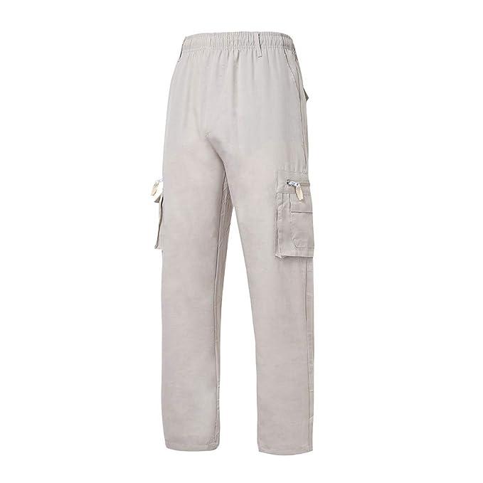 ZODOF Moda Hombres Sueltos Pantalones para Otoño Invierno de ...