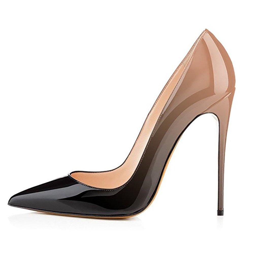 EKS - Zapatos de Tacón Mujer 42 EU| - Nackt-schwarz-12cm