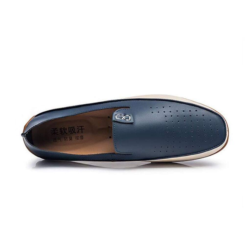 Spring Summer Breathable Peas Shoes /& Driving Shoes Slip On Lightweight Soft Men Shoes Mens Shoes Color : E, Size : 36