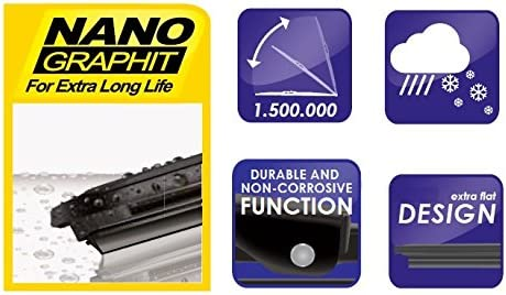 Peuget 405 Models 1987 To 1995 Alca Germany Super Flat Wiper Blades Front Replacement ASF2422H