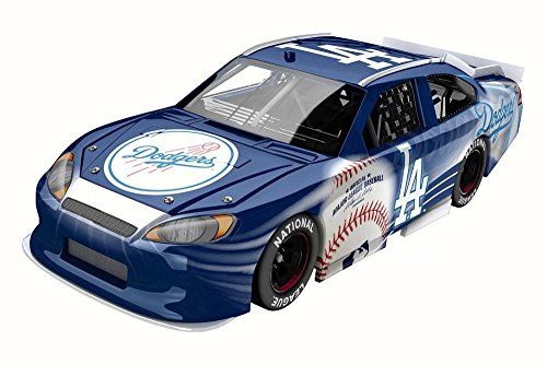 Los Angeles Dodgers 2012 Ford Fusion, Blue & White - Lionel NASCAR - 1/24 Scale Diecast Model Toy Car