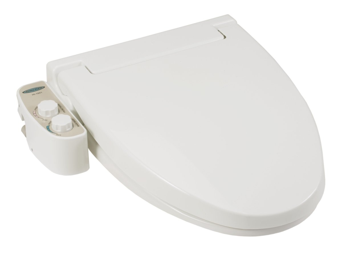 Feel Fresh HI-1001WT Elongated Non-Electric Bidet Seat White