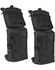 Everrich Universal ATV Fender Bags 2-Pack ATV Tank Saddle Bags waterproof-Cargo Storage Storage Pack Hunting Bags (Black), 7.5 x 3 x 11.5 inches, 600D Oxford, Elegant Shape