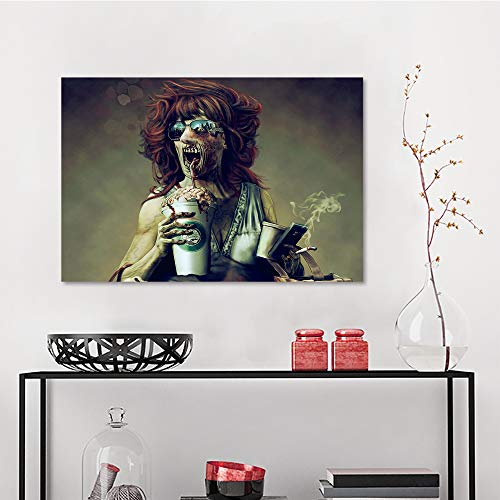 Allbrit Living Room Decor Decoration for Home Decor, Dark Art Artwork Fantasy Artistic Original Psychedelic Horror Evil Creepy Scary Spooky Halloween, Wall Pictures W23.6 x L35.5 Inch]()