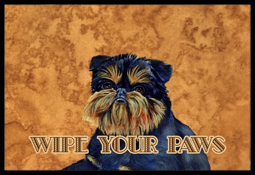 "Caroline's Treasures Brussels Griffon Wipe Your Paws Indoor or Outdoor Mat, 24"" x 36"", Multicolor"