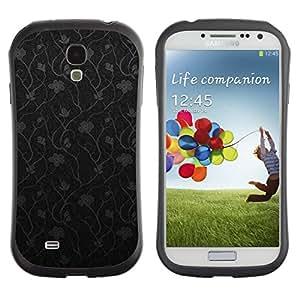 Suave TPU GEL Carcasa Funda Silicona Blando Estuche Caso de protección (para) Samsung Galaxy S4 I9500 / CECELL Phone case / / Pattern Floral Black Minimalist /