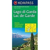 Kompass Panorama-Karten, Gardasee: Strassenkarte 1:125000 mit Panorama.