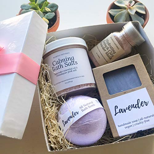 Natural Spa Box Set for Women Birthday Valentine's Day Gift Box Bridesmaid Bride from Bearhug Naturals