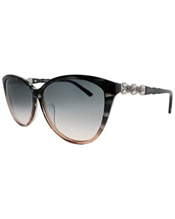 2bf9acc94270 Image Unavailable. Image not available for. Color  Swarovski SK0084 F 52F  Grey Horn Asian Fit Cat-Eye Sunglasses