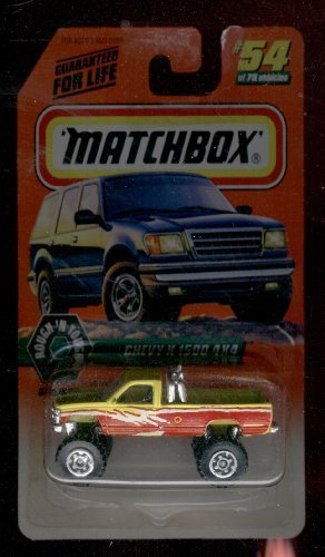 (Matchbox 1997-54 of 75 Rough 'N Tough Chevy K-1500 4x4 Series 7 1:64 Scale)
