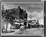 HistoricalFindings Photo: Opera house block,west sidemsquare,commercial street,Hallettsville,Texas,TX,1900