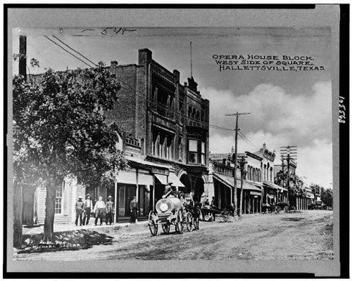 HistoricalFindings Photo: Opera house block,west sidemsquare,commercial street,Hallettsville,Texas,TX,1900 by HistoricalFindings