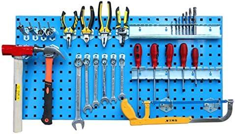 パンチングボード 有孔ボード ウォールツールは、シェッドガレージワークショップのためにフックボードシェルフツールホルダーラック ガレージ/自動車修理店/庭用 (Color : Blue, Size : 90x45cx0.14m)