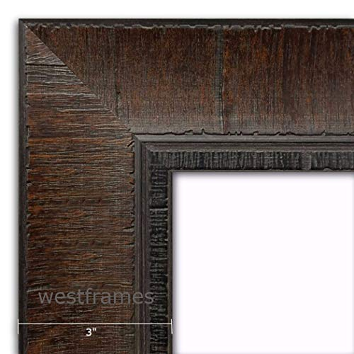 West Frames The Lodge Distressed Wall Picture Frame (Dark Walnut Brown, 30