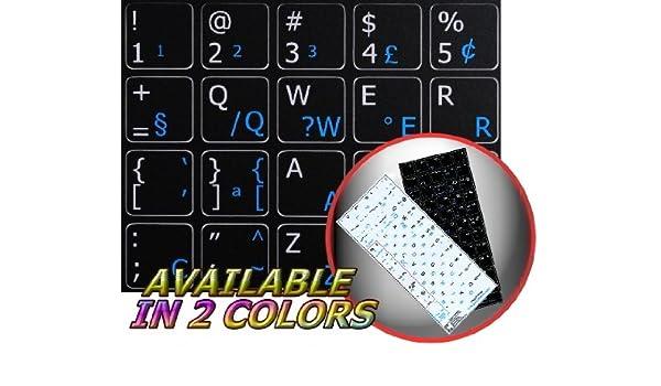 English Notebook Non-Transparent Black Keyboard Stickers Portuguese Brazilian