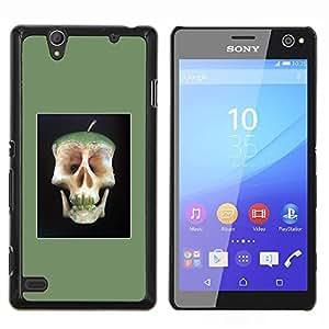 YiPhone /// Prima de resorte delgada de la cubierta del caso de Shell Armor - Manzana doctor Away Muerte Cráneo Core - Sony Xperia C4