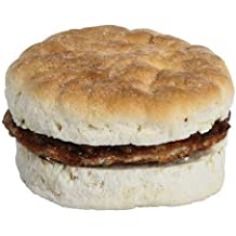 Day n Night Bite Sausage Value Biscuit, 3.5 Ounce - 24 per case.