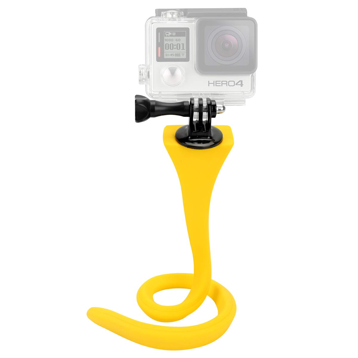 Yellow Twistable Mount for GoPro and Sports Cameras Eggsnow Flexible Stand for GoPro