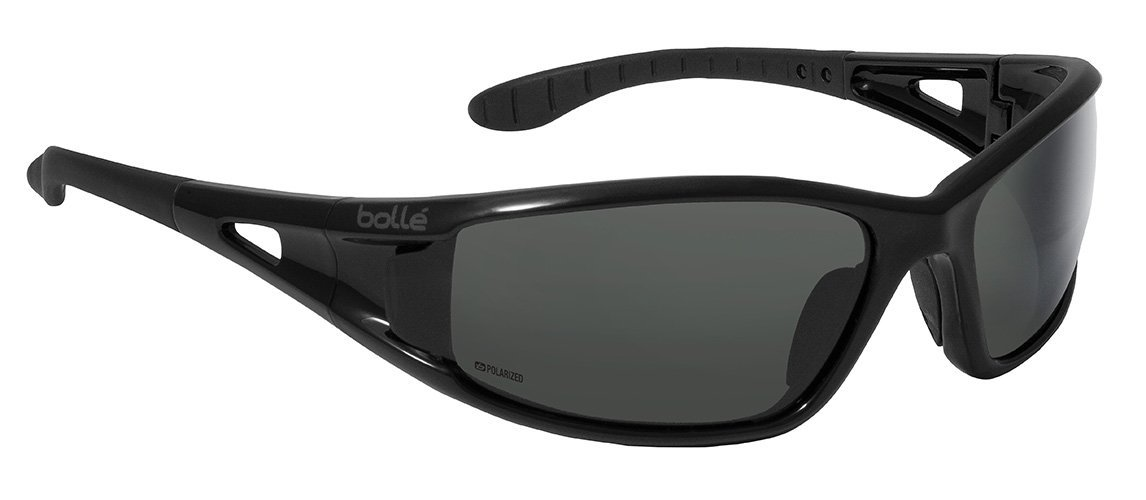 fe3d41e3bc Bollé Safety 253-LW-40053 Lowrider Safety Eyewear with Shiny Black  Polycarbonate Frame and Polarized Gray Lens - Safety Glasses - Amazon.com