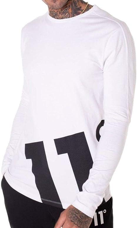 algod/ón 11 Degrees 11/º Odin Long Sleeve Logo Top Camiseta para Hombre