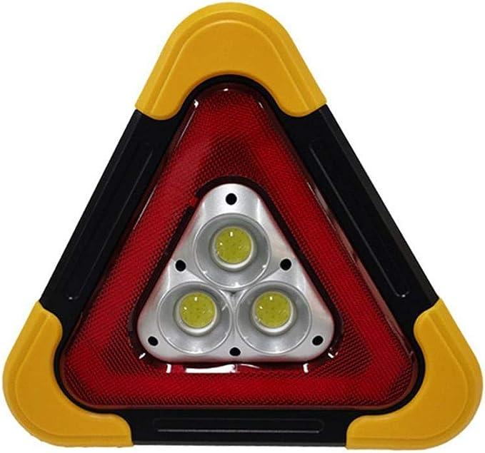 Ningxiao586 Led Blinkendes Warndreieck Solar Usb Das Warndreieck Auflädt Das Pfeiler Arbeits Straßen Notlampe Für Gelben Selbstwinkel Blinkt Sport Freizeit
