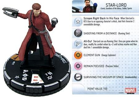 HeroClix Marvel Guardians of the Galaxy Star-Lord #017
