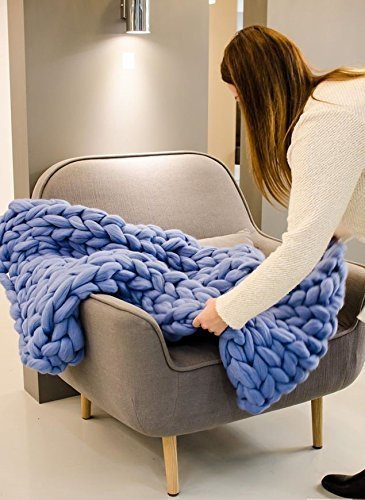 Amazon Com Big Yarn Chunky Blanket Big Knit Baby Blanket Merino
