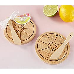 Kate Aspen Citrus Cheeseboard and Spreader - 36 Pack