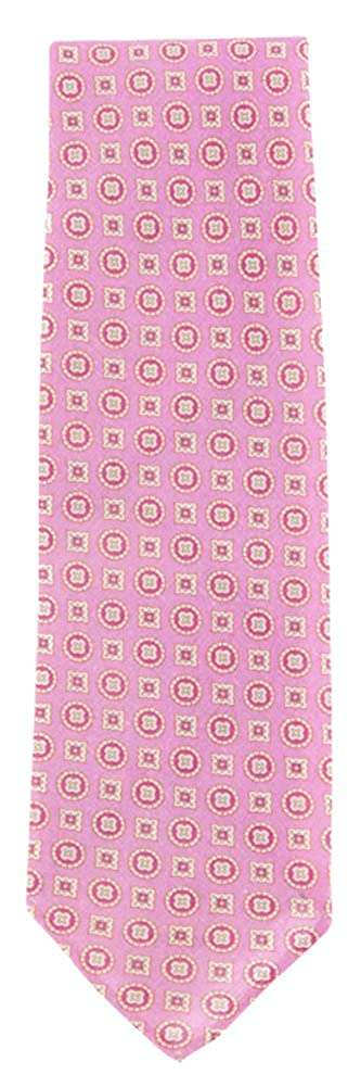 New Finamore Napoli Pink Linen Tie