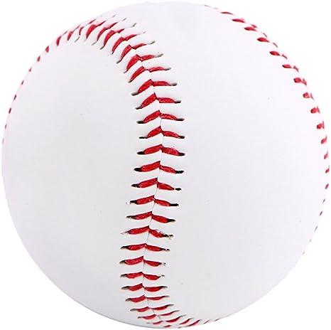 Kanggest 9 Pulgadas de Béisbol Blanco Balón de Entrenamiento Suave ...
