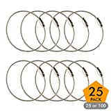 aircraft cable edc key ring - Stainless Steel Wire Keychains 1.5mm 6.3 Inches Aircraft Cable Key Ring Loops for Hanging Luggage Tags or ID Tags (25 Pack)