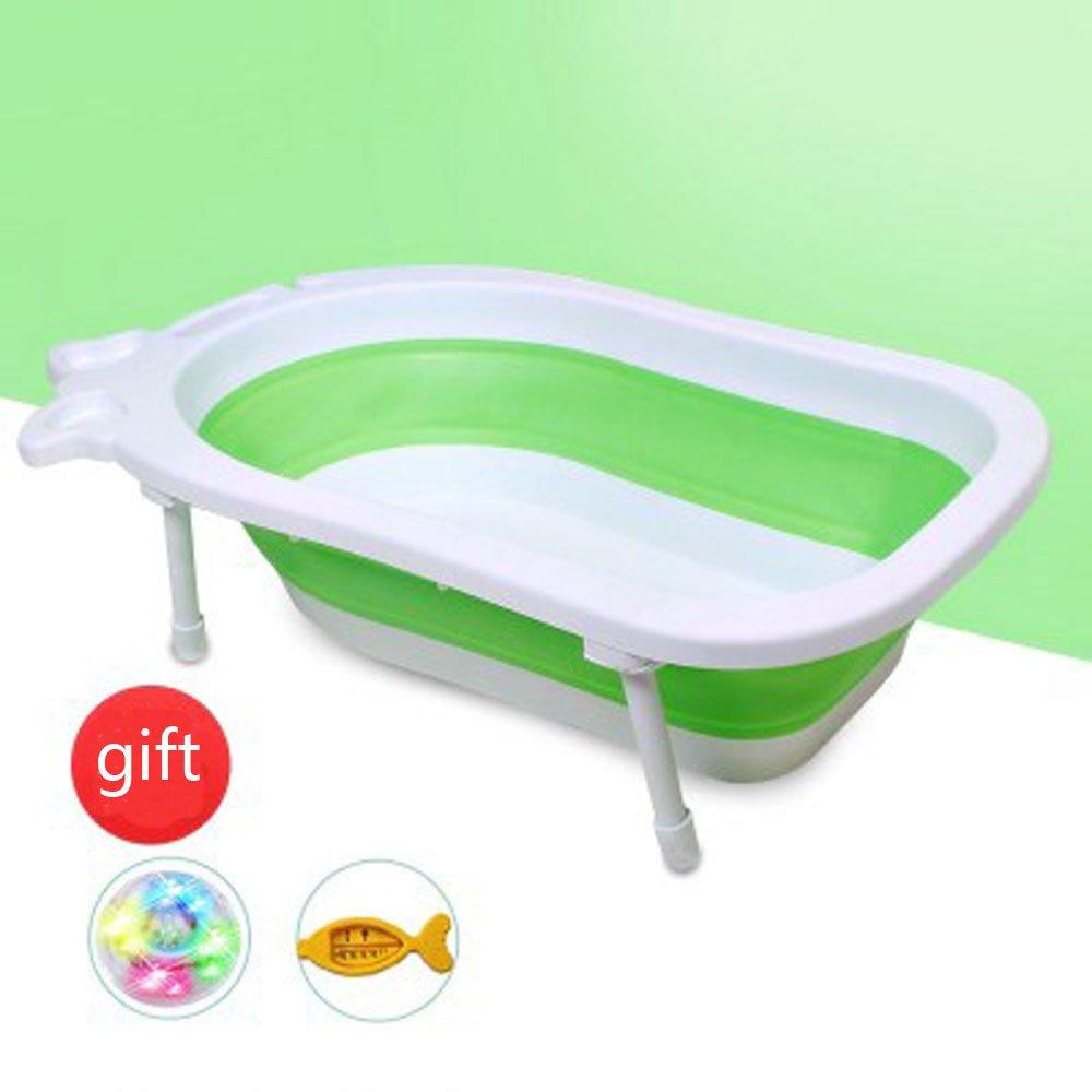 Elegant Baby Tub Kinder Trompete Bad Barrel OverGrößed Double Free-Zylinder Falten Große Kind Liegewanne Shampoo Bett Kinderbad,D